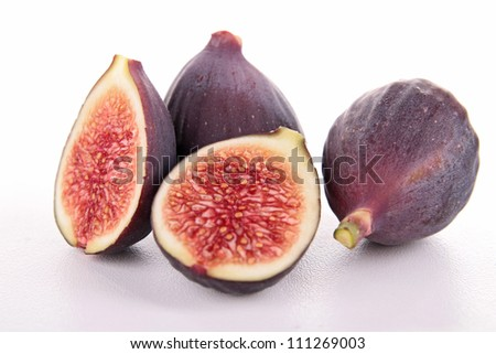 isolated fresh fig - stock photo