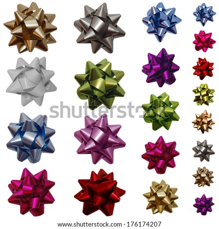 Isolated gift bows - stock photo