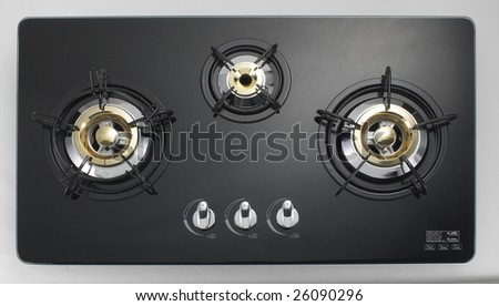 Isolated Glass Gas 3-Burner 1 - stock photo