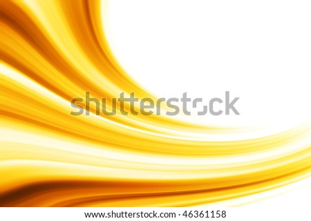 Isolated golden wave - stock photo