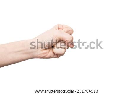 isolated hand - stock photo