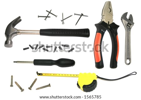 Isolated home improvement kit - stock photo