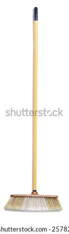Isolated household broom on a white background.  - stock photo