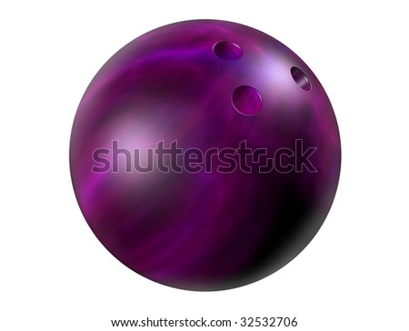 Isolated illustration of a shiny marbled bowling ball - stock photo