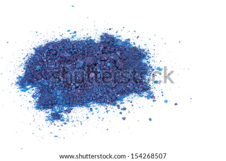 isolated image of a blue dye on a white background - stock photo