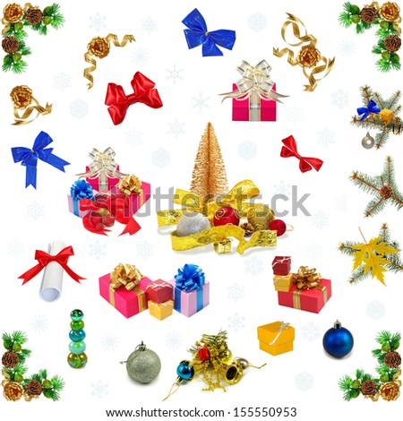 Isolated image of a christmas card - stock photo