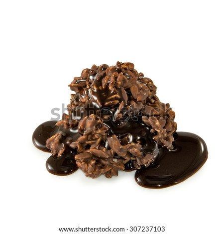 Isolated image of chocolate candy - stock photo