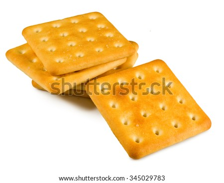 isolated image of cookie closeup - stock photo