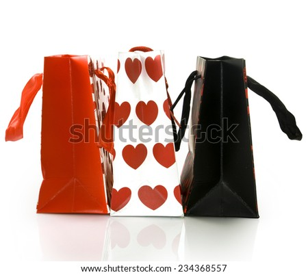 Isolated image of gift shopping bags - stock photo