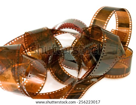 isolated image of photographic film closeup - stock photo