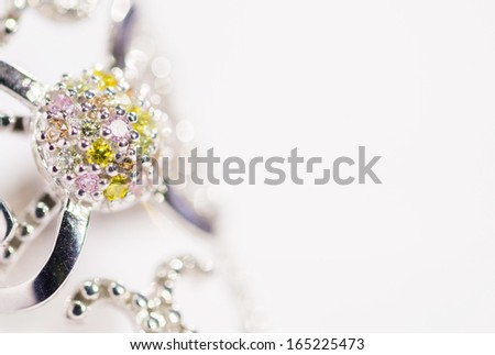 Isolated Jewelry Background  - stock photo