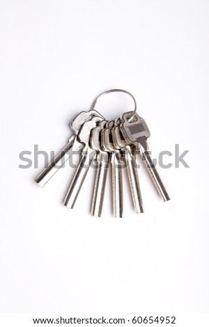 Isolated Keys on White background - stock photo