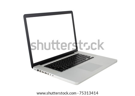 Isolated: Laptop - stock photo