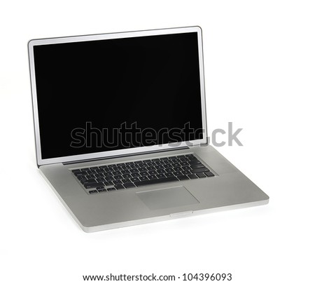 Isolated laptop computer - stock photo