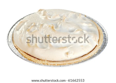 isolated lemon meringue pie - stock photo