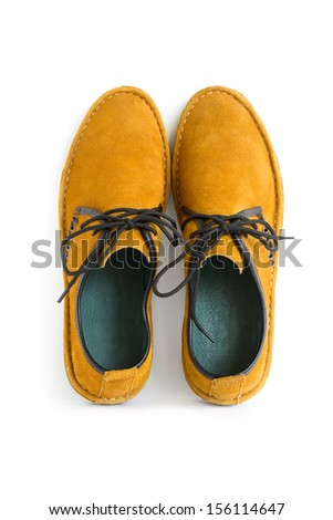 isolated male modern style moccasin - stock photo