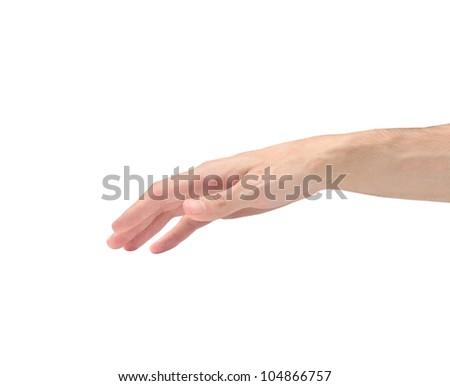 Isolated man's hand - stock photo