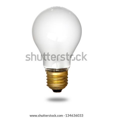 Isolated mate light bulb on white background - stock photo
