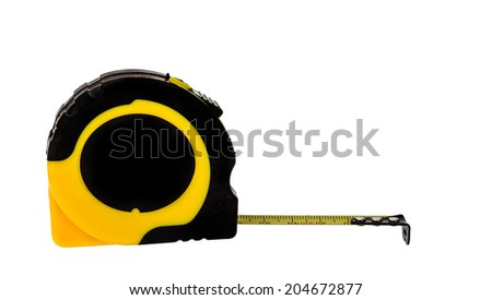 isolated measuring tape - stock photo