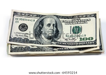 isolated money and united states currency - stock photo