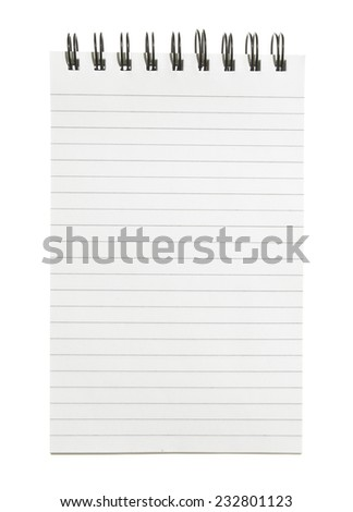 Isolated note Pad - stock photo
