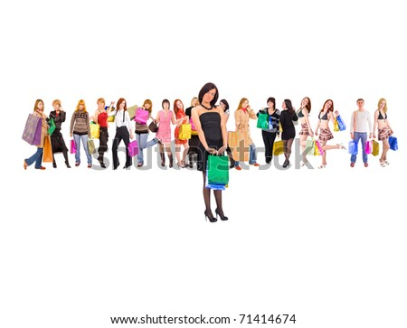 Isolated One People - stock photo