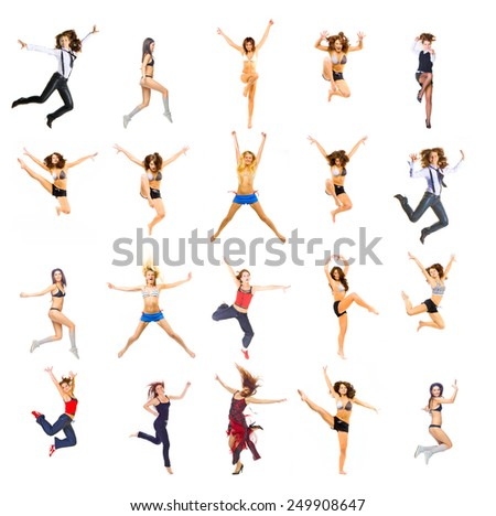 Isolated over White Athletic Concept  - stock photo