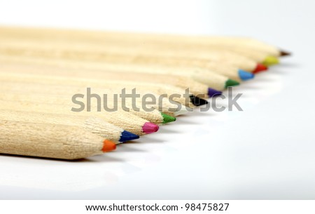 isolated pencil color - stock photo