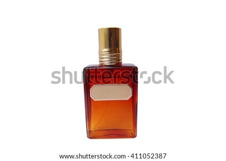 Isolated perfume bottle - stock photo