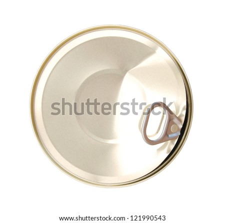 Isolated photo of a aluminum tin - stock photo