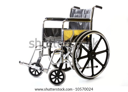 Isolated photo of a wheelchair. - stock photo
