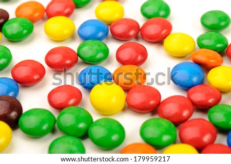Isolated photo of colorful sweeties - stock photo