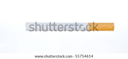 isolated put out cigarette - stock photo