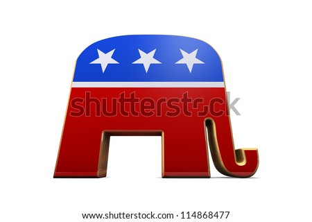 Isolated Republican Party Symbol - stock photo