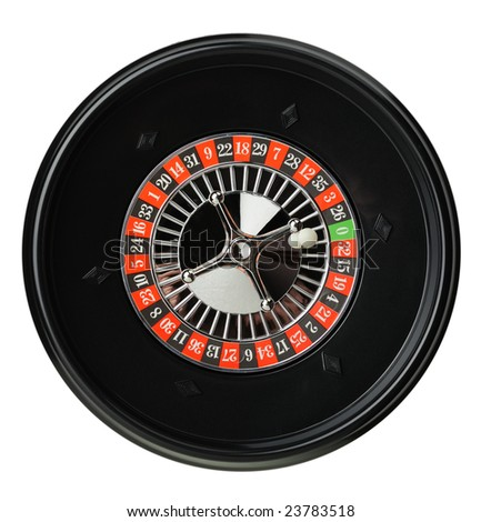 Isolated roulette - stock photo