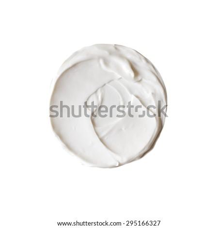 Isolated sample of white beauty cream - stock photo