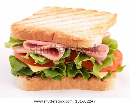 isolated sandwich - stock photo
