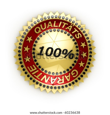 Isolated Satisfaction Guaranteed seal over white background - stock photo