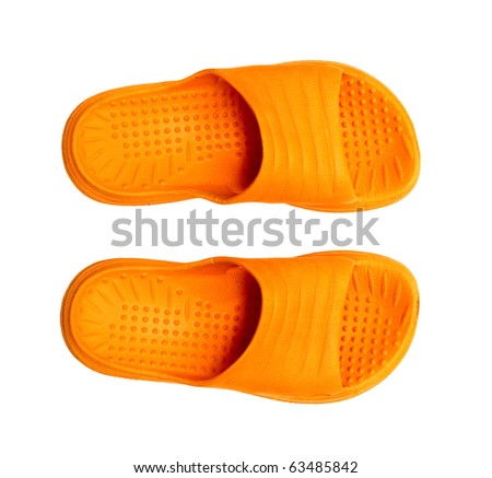 isolated series object on white - clothes plimsolls - stock photo