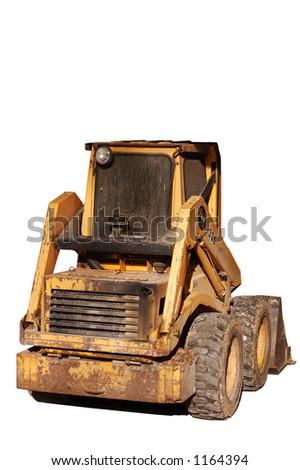 Isolated Skid Steer - stock photo