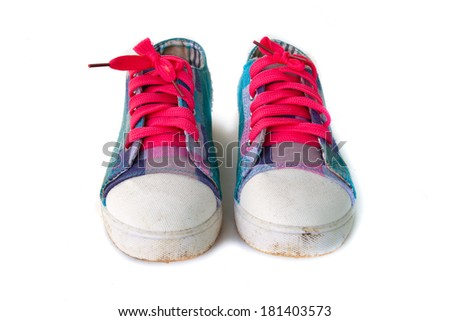 Isolated sneaker shoes - stock photo