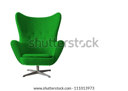Isolated Soft green Stylish Chair - stock photo