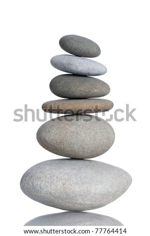 Isolated Stack of Stones - stock photo