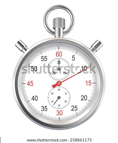 Isolated Stopwatch. Classic stopwatch. Isolated with Clipping path. - stock photo