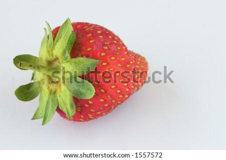 Isolated strawberry - stock photo