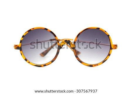 Isolated Sun glasses on a white background . - stock photo