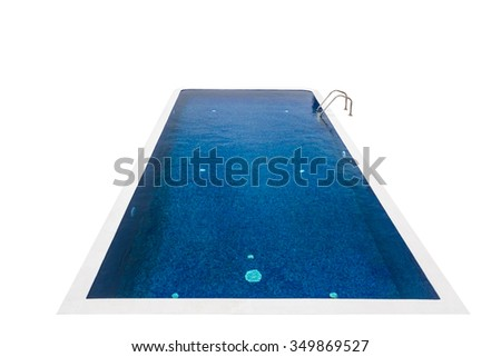 Isolated swimming pool - stock photo