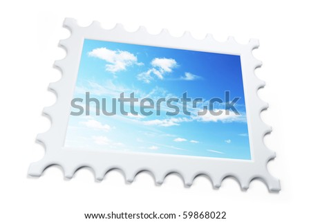 isolated symbolic stamp 3d rendering - stock photo