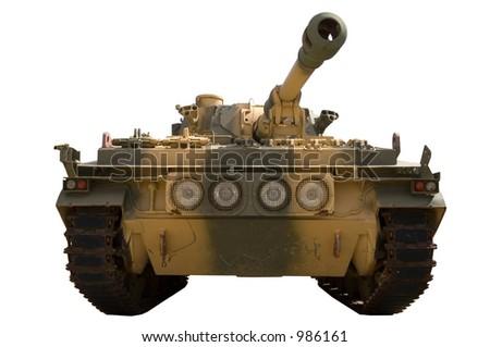 Isolated tank - stock photo