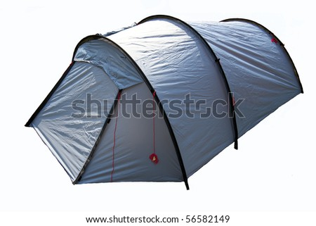 isolated tent on white background - stock photo